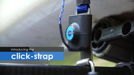 Click Strap on Kayak